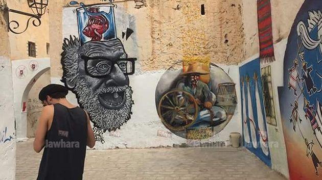 تظاهرة جربة Painting في حومة السوق