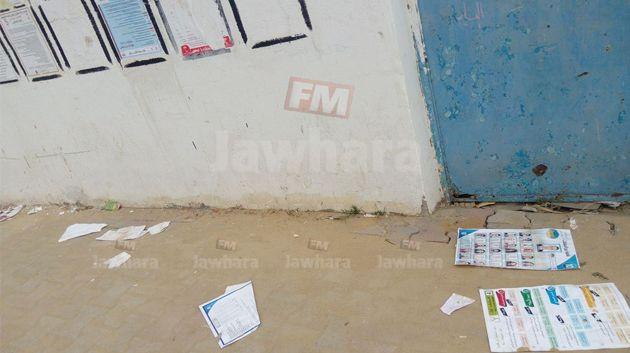 تمزيق المعلقات الانتخابية في الحمامات وبئر بورقبة