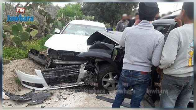 القيروان : 6 إصابات بينها حالتان خطيرتان في حادث مرور
