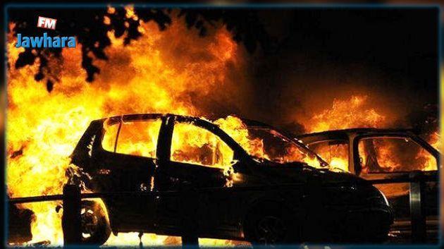 قتيل في احتراق شاحنة محملة بالبنزين المهرب