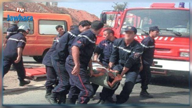 وفاة إمراة واصابة طفليها وزوجها في حادث مرور