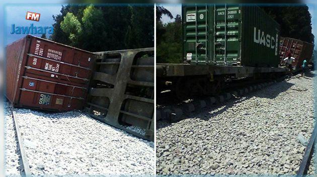 انقلاب قطار نقل بضائع في قرمبالية