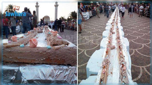 المنستير : إعداد أطول قطعة مرطبات في تونس