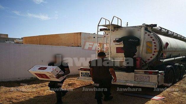 مدنين : حجز كمية كبيرة من السجائر داخل صهريج شاحنة