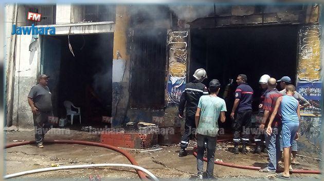 المهدية : اندلاع حريق في ورشة لاصلاح السيارات