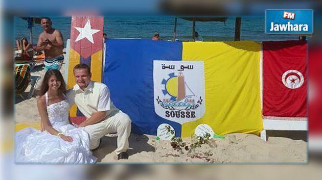 Sousse : Un couple anglais défie le terrorisme et se marie à Boujaâfar Sousse-un-couple-anglais-defie-le-terrorisme-et-se-marie-a-boujaafar-video