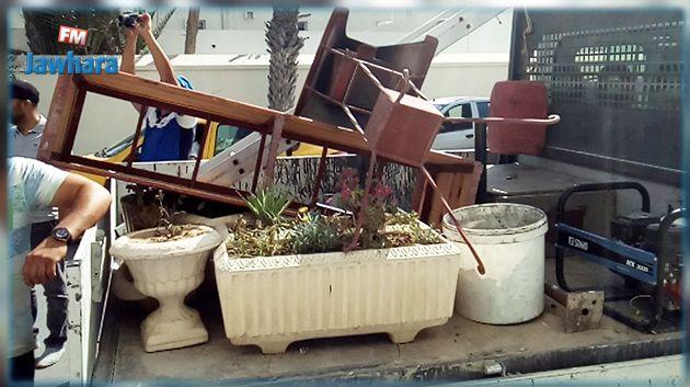 La lutte contre l'occupation illégale des trottoirs se poursuit à Sousse