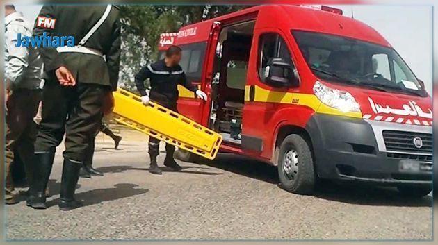 جندوبة : وفاة طفل وإمرأة وإصابة 9 آخرين في حادث مرور