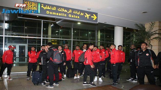 المنتخب الوطني لكرة القدم يصل الى الاسكندرية