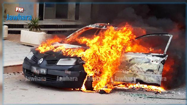 سوسة : احتراق سيارة في سهلول (صور)