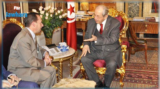 الناصر يستقبل سفير الولايات المتحدة بتونس بمناسبة انتهاء مهامه