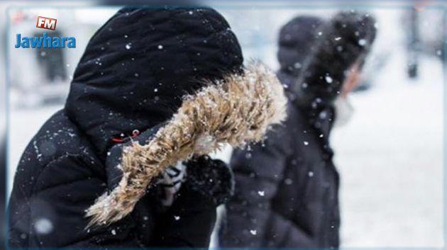 تواصل موجة البرد مع تساقط الثلوج