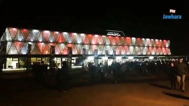 مغادرة الجماهير لقاعة بوكسن بعد مباراة تونس و النرويج