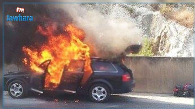 بن قردان : وفاة شاب احتراقا داخل سيارته