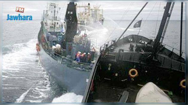 تصادم سفينتين يثير توترات بين ماليزيا وسنغافورة