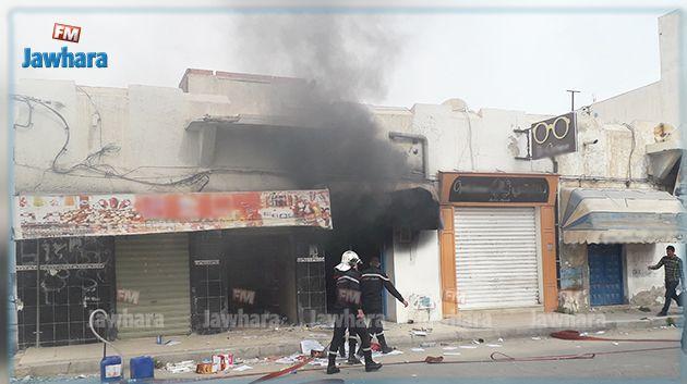 قابس : حريق بمحل لبيع البنزين