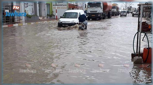 القيروان : الأمطار تتسرب إلى منازل وانقطاع الكهرباء