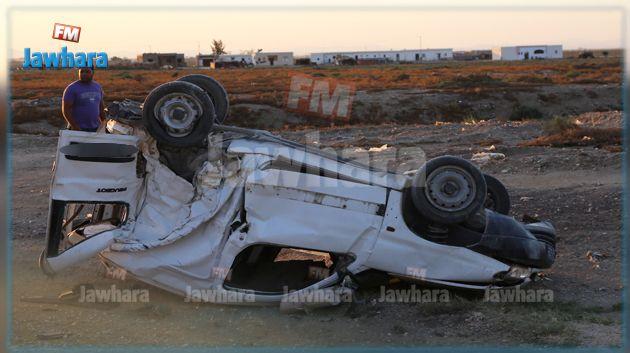 زغوان : انقلاب سيارة مسروقة خلال مطاردة أمنية