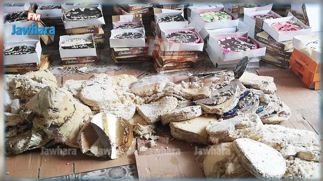 حجز مرطبات ومواد أولية لصنع الحلويات غير صالحة للإستهلاك و إمكانية غلق المصنع
