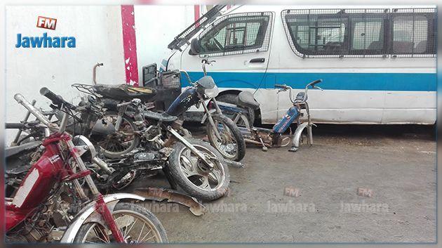 الكشف عن مخزن يحتوي 24 دراجة مسروقة في السرس
