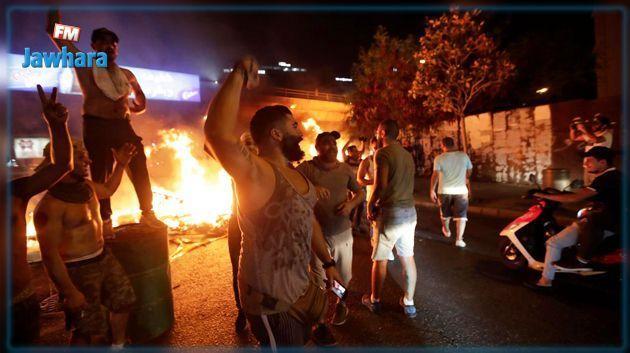 بعد احتجاجات ليلية : حالة الشوارع في لبنان (صور)