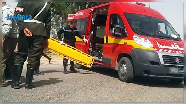 هرقلة : حالة احتقان اثر إصابة 4 أشخاص في حادث مرور
