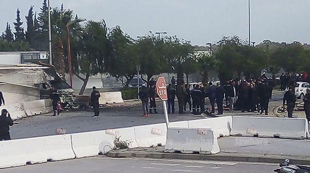 انفجار قرب السفارة الامريكية بتونس العاصمة