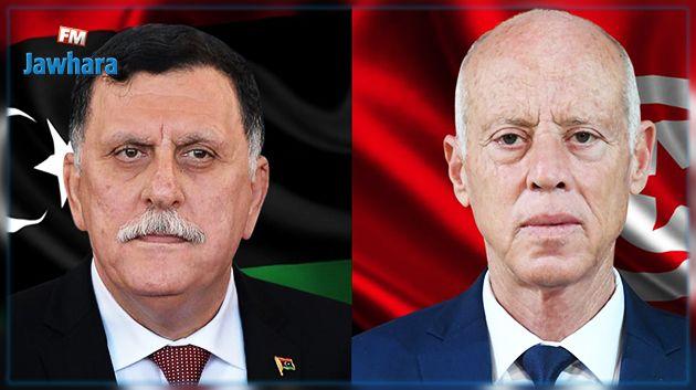 رئيس حكومة الوفاق الليبية يعبّر عن استعداد ليبيا لمساعدة تونس