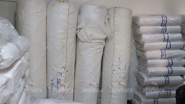 أكودة: حجز كمية كبيرة من القماش المسروق المعد لصناعة الكمامات