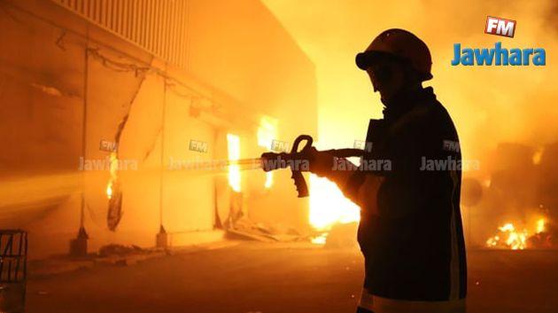 حريق مصنع الورق في النفيضة : صور مباشرة