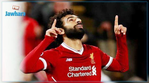 محمد صلاح يسجل الهدف رقم 100 مع ليفربول