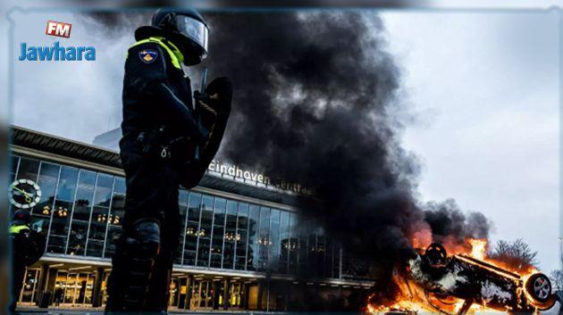 رئيس وزراء هولندا يصف الشغب خلال احتجاجات على قيود كورونا بأنه