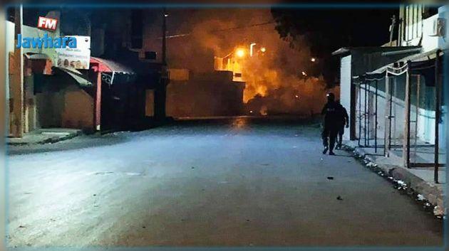 إصابة مواطن خلال الاحتجاجات بمدينة سبيطلة