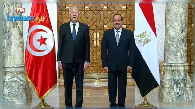 بدء القمة المصرية التونسية بين السيسي وسعيّد