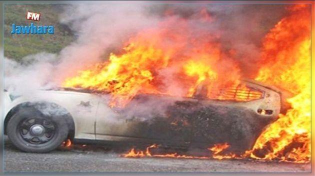 المكنين: القبض على شخصين قاما بإضرام النار في سيارة جارهما