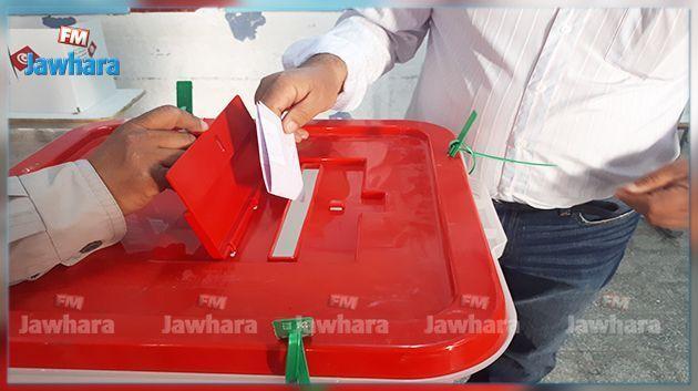 نسبة المشاركة العامة للامنيين والعسكريين في الانتخابات الجزئية لبلدية الصخيرة