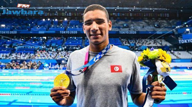 البطل الأولمبي أيوب الحفناوي يشارك اليوم في تصفيات سباق 800 م سباحة حرة