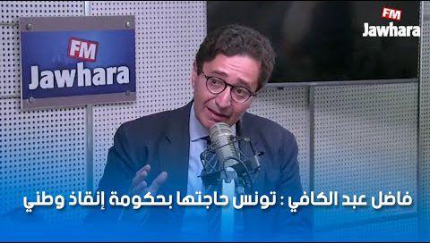 فاضل عبد الكافي : تونس حاجتها بحكومة إنقاذ وطني