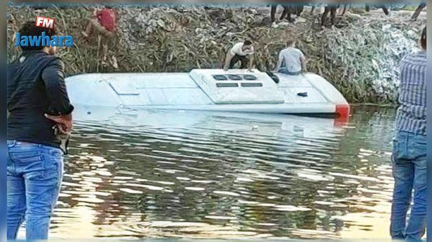 مصر: سقوط حافلة ركاب في مستنقع (فيديو)