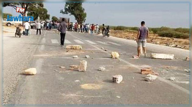 المهدية: غلق الطريق الرابطة بين الجم وصفاقس اثر وفاة طفل في حادث مرور