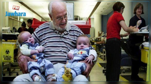 Un donneur de sang australien a permis de sauver 2,4 millions de bébés