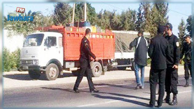 Mahdia : Saisie d'un camion chargé de marchandises de contrebande