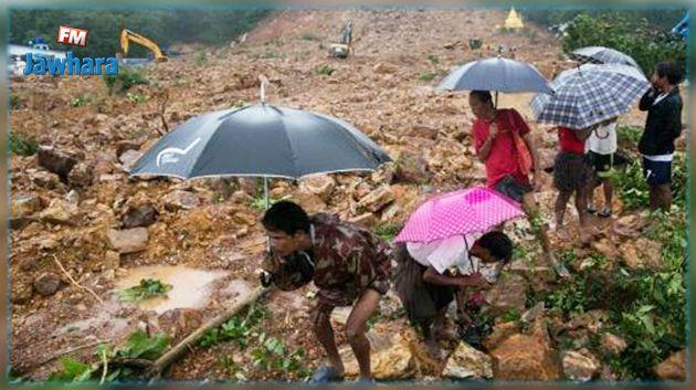 Birmanie : Au moins 34 morts et des dizaines de personnes disparues après un glissement de terrain