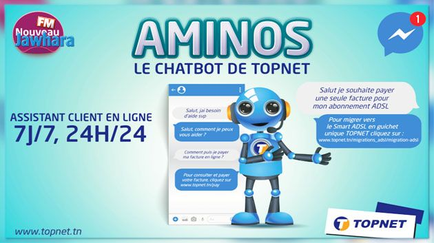 TOPNET lance AMINOS, sa nouvelle plateforme CHATBOT