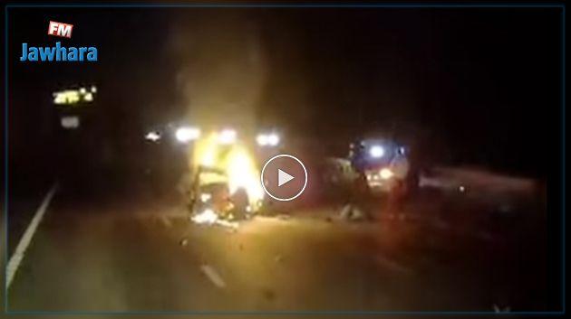 Vidéo : Un chauffeur sauve de justesse une femme avant l'explosion de sa voiture