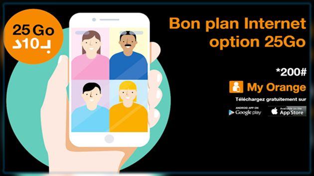 Orange Tunisie se mobilise pour permettre à chacun de rester en lien avec ses proches et son environnement professionnel et lance l'option Bon Plan 25 Go à 10 dt