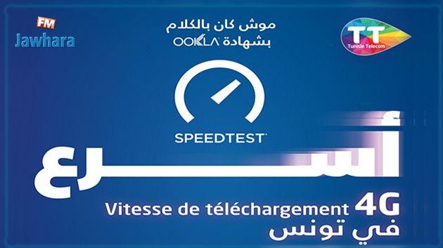 Réseau 4G Tunisie Telecom, passez à la vitesse de téléchargement la plus rapide, vérifiée par Speedtest® de Ookla®