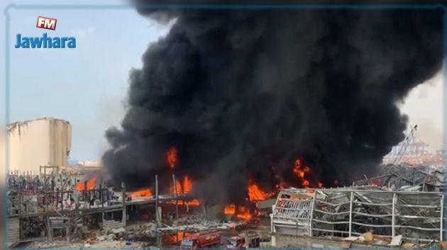 Important incendie au port de Beyrouth