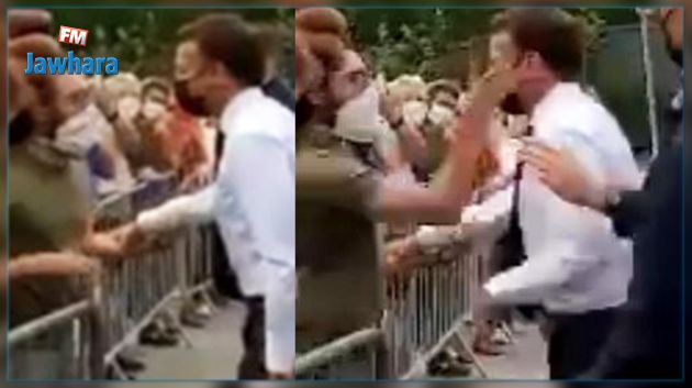 En vidéo : Le président Français Macron giflé lors de sa visite dans la Drôme