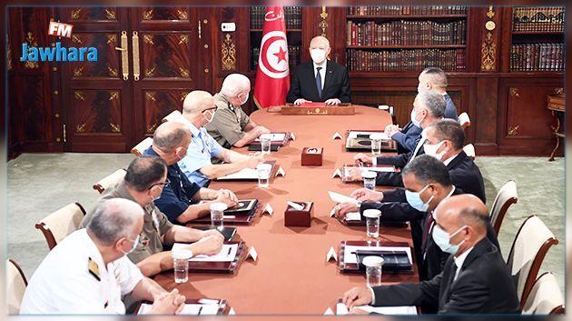 Kais Saied préside une réunion du Conseil Supérieur des hauts cadres militaires et sécuritaires